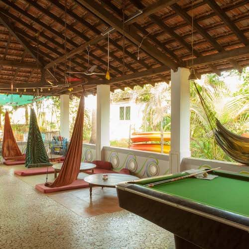 The surf club and its great hang out spot with good food and the best pool table in Goa